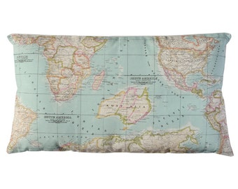 World Map Pillow cover, map pad, world map pad, map decor, traveller gift, decorative pillows, atlas pillow cover, globe pillow cover.