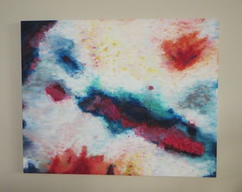 Large Massive Multicolor Original Abstract Statement Painting on Wrapped Canvas