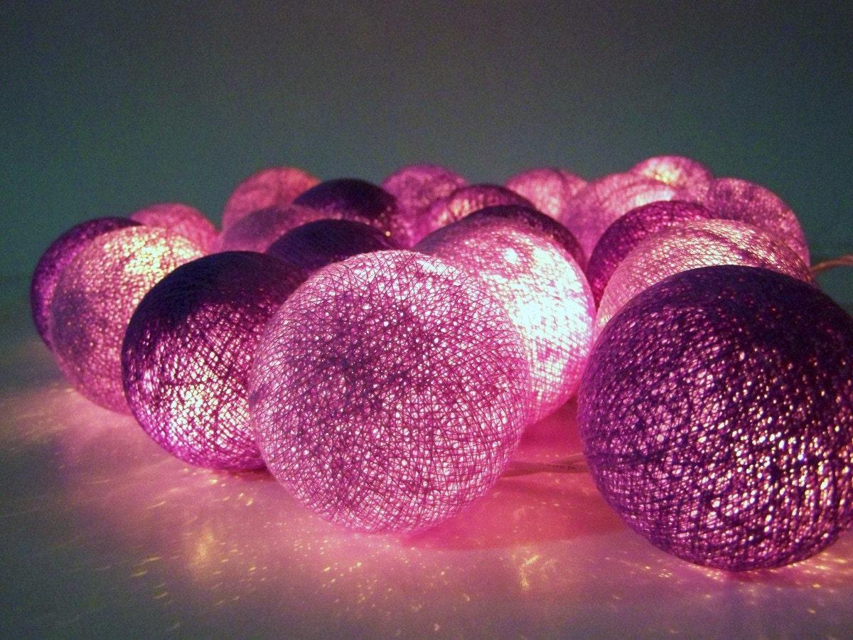Guirnalda de luces navidad bolas de algod n 20 bolas for Guirnalda de luces bolas