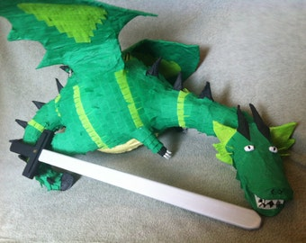 Dragon Piñata with wooden sword