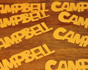 Customizable Name Confetti-ALL CAPS Font-Set of 50-Name Confetti
