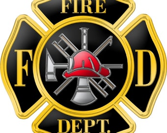 Fire Dept. Large Decals