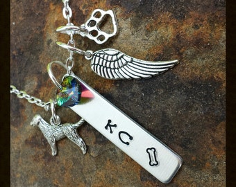 Custom made metal stamped jewelry - Pet Memorial Necklace ...