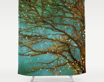 Teal curtains   Etsy. Yellow And Teal Shower Curtain. Home Design Ideas