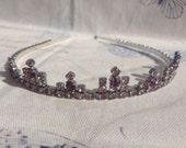 OOAK Vintage Wedding Tiara Purple