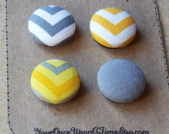 Magnets-Fabric Covered Button Magnets-Set of 4, refrigerator magnets, magnet board, magnetic, Cute magnets, Strong magnets, fridge magnets