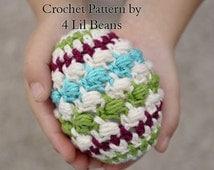 Crochet Pattern: Crochet Easter Egg Pattern, Easter Decorations, Crochet Tutorial - Crochet Eggs (Pattern 10) Digital Download