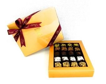 Date Bites Vegetarian and Gluten-Free 20 piece assortment -- Spirulina, Nuts, Raw Cocoa Bean, Coconut, Dark Chocolate
