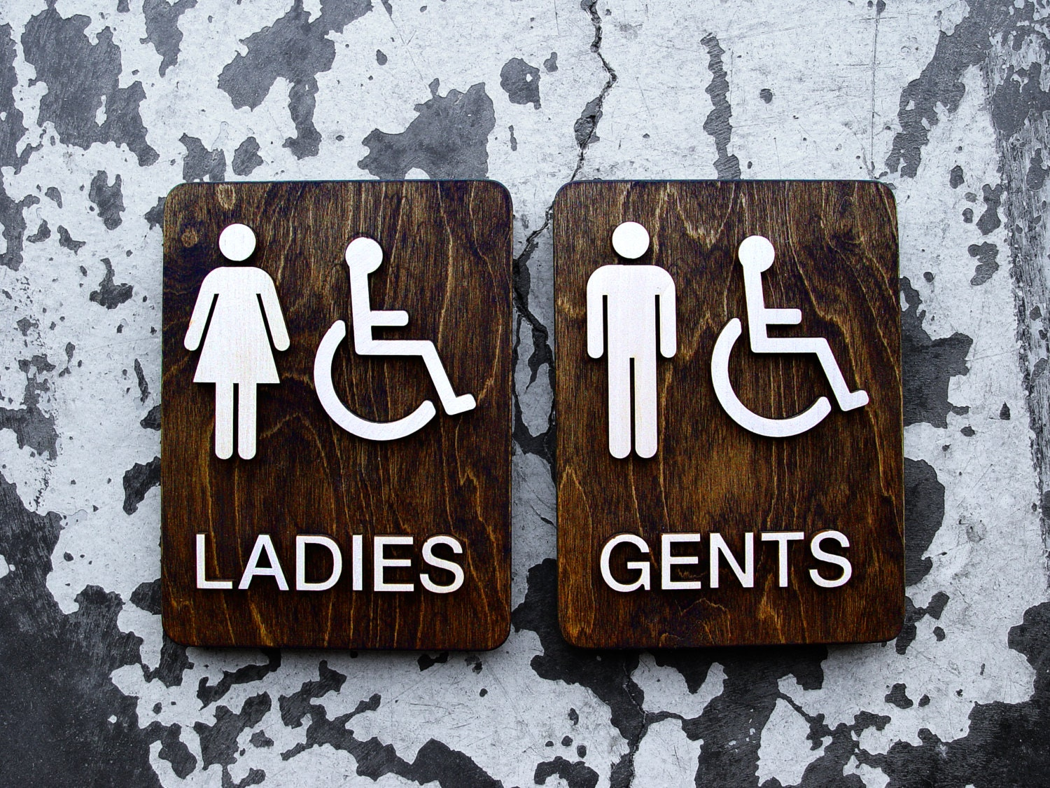 Bathroom Sign Texture ladies & gents restroom bathroom signs office wc signage