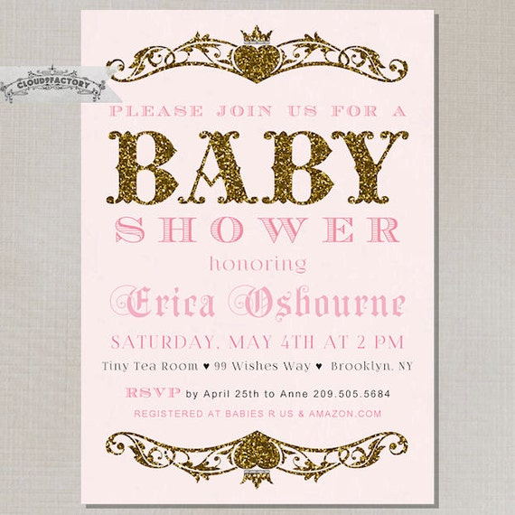 Pink and gold baby shower invitations gangcraft blush pink gold baby shower invitation girl gold glitter by baby shower invitations filmwisefo