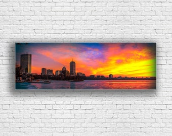 Boston Wall Art b&w boston skyline canvas set large wall art of boston print