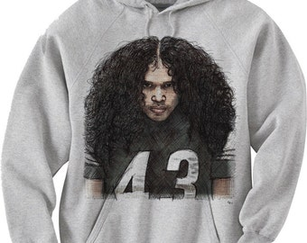 Troy Polamalu Officially Licensed NFLPA Pittsburg Hoodies S-3XL Sketch