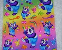 LISA FRANK stickers  S271  Panda Painter stickers