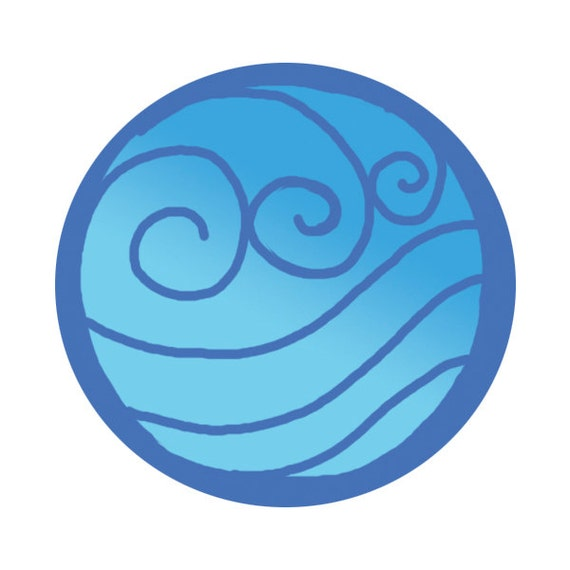 Avatar Water Tribe Sigil Button