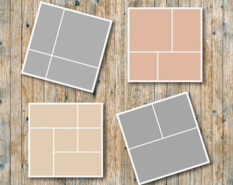 """Photo storyboard template 20""""x20"""" for photographers, photoshop templates, instant download, commercial use, S09"""