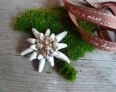 Edelweiss in raku raku ceramic Christmas decoration-decoration-Edelweiss