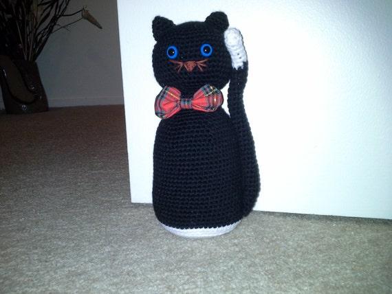 Door stop crochet cat - Cat door stoppers ...