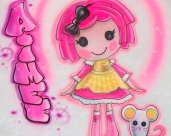 Airbrush Lalaloopsy Crumbs Sugar Cookie Doll T Shirt; Personalized w/ ANY Name!