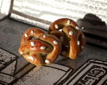 Handmade Polymer clay Pretzel earrings