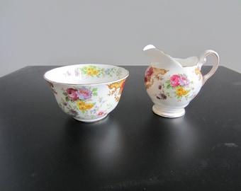 Tuscan Fine China - Cream and Sugar Set - Provence Pattern