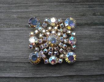 Aurora Borealis Jewelry Vintage Costume Jewelry Gold Tone 02096