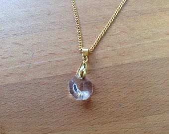Swarovski Crystal pendant gold necklace