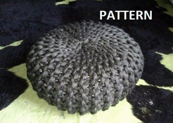 Knitted Pouf PDF Pattern Pouf Poof Knitting Ottoman by ...