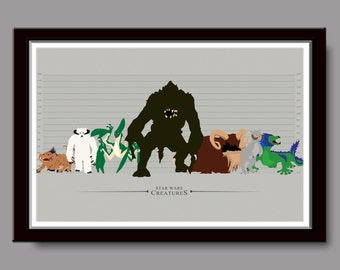Star Wars Inspired Creatures - Home Decor