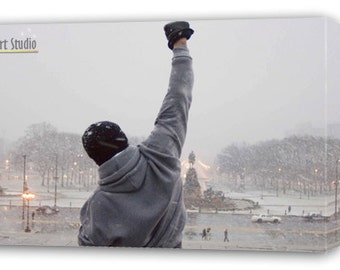 """Rocky Balboa Giclee Art W Gallery Wrap Style Framing & Ready To Hang Size 28X20X1.5"""""""