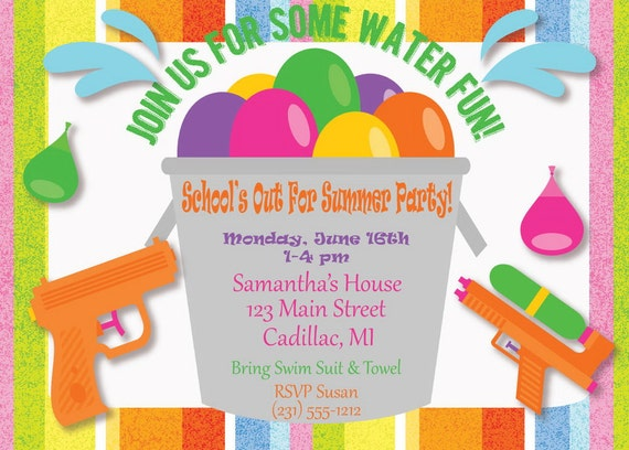 summer party invitation – gangcraft, Party invitations