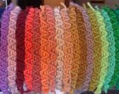 Bracciale macramè in lana