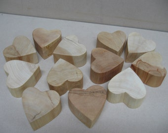 12 Cypress hearts, for weddings, crafts, etc.