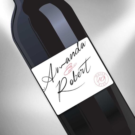 Wine Bottle Wedding Labels