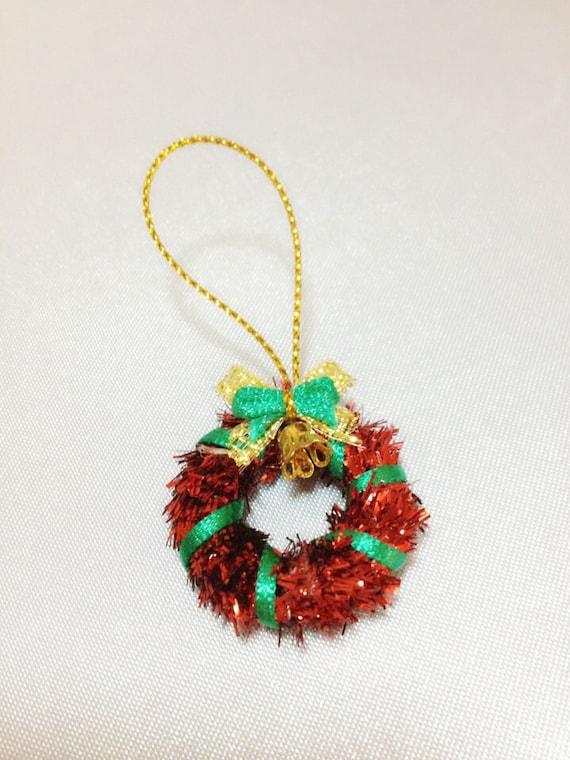 Miniature Christmas Weath,Miniature Christmas Tree Deco,Dollhouse Weath,Dollhouse Christmas,Miniature Xmas,Christmas