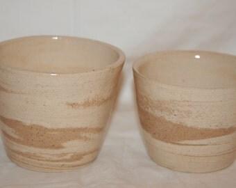 Multi-colored small clay bowls