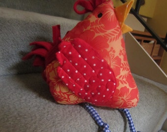 Chickabella - the pattern to make a cute chicken soft toy