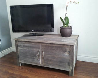 Old Barn Wood Media Stand