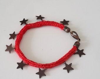 Redstar bracelet/Red star/Kazaziye bracelet/Handmade bracelet/Valentines day bracelet/Red bracelet/Needlework/Graduation gift/Gift/Bestprice