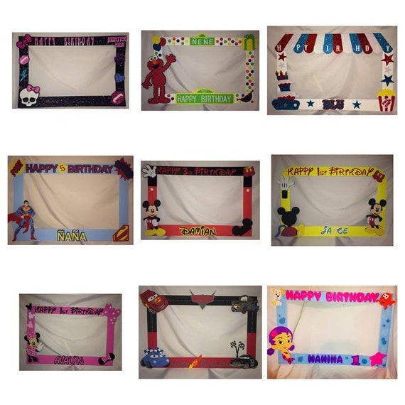 Party Photo Frame Prop Custom Photo Frame Party Prop