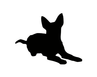 Australian Cattle Dog Silhouette Custom Die Cut Vinyl Decal Sticker - Choose your Color and Size