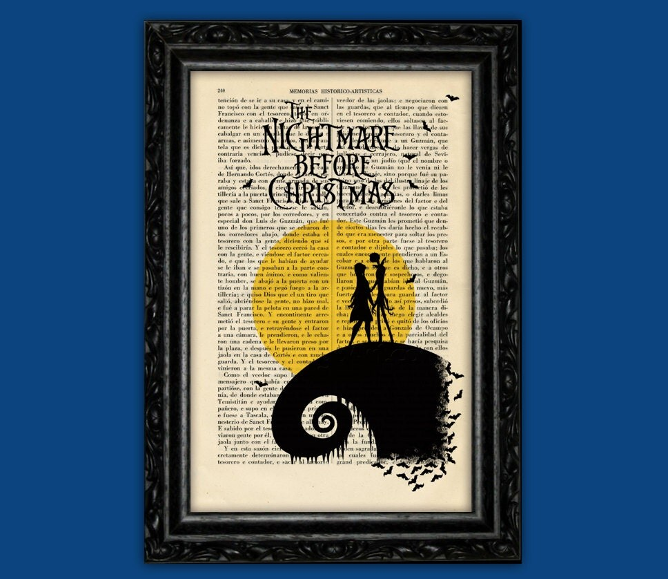 Free Comic Book Day Nightmare Before Christmas: Nightmare Before Christmas Moon Print Tim Burton Halloween