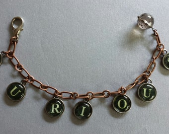 Type-writer bracelet - curious