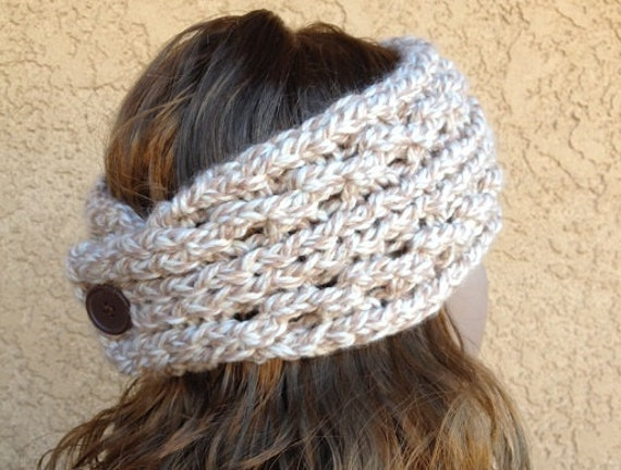Knitted Ear Warmer Pattern Loom : Lace Ribbed Ear Warmer a loom knit pattern