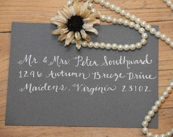 Hand Addressed Envelope Calligraphy-Heather Style