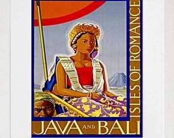 Java Bali Art Travel Poster Tourism Print (TR18)
