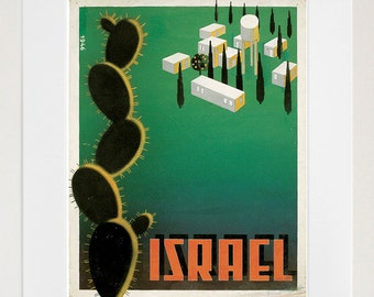 Israel Art Vintage Travel Poster Print Home Wall Decor (XR385)