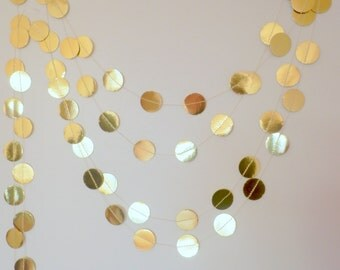 Sparkle Garland,Holiday Garland, Gold Garland