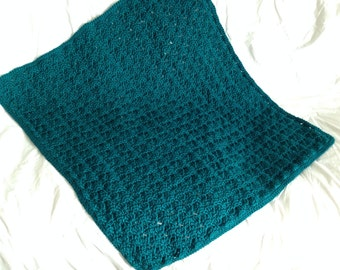 Teal Shells - Baby Blanket (Made-to-Order)