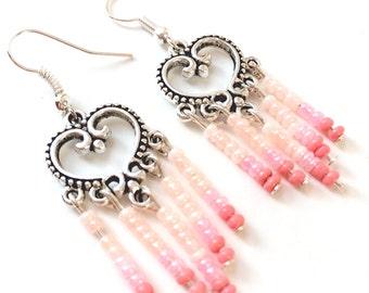 Ombré Pink Dangle Earrings
