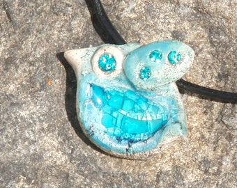 little ceramic bird pendant